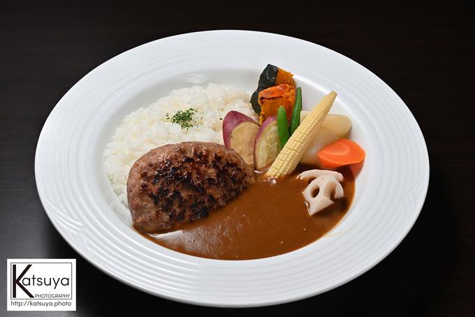 粗挽き肉バーグとカレーが合体!贅沢な肉バーグカレー