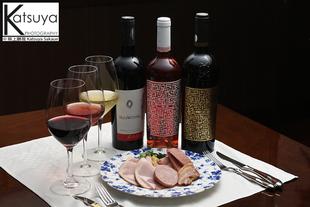 ワイン&料理 イメージ撮影