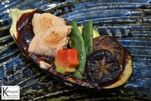 シイタケが嫌いというけしからん嫁。なのでシイタケが2つ乗っております(笑)このナスすごく美味しかった!味噌も絶品!